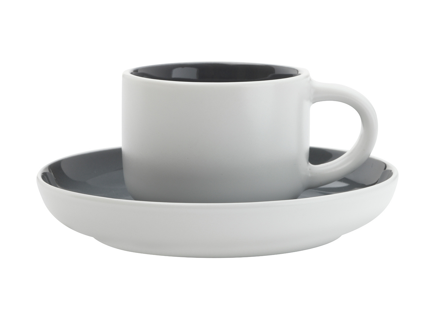 Maxwell & Williams Tint Demi 100Ml Cup And Saucer Charcoal