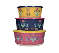 Katie Alice Festival Folk Set Of 3 Nesting Containers