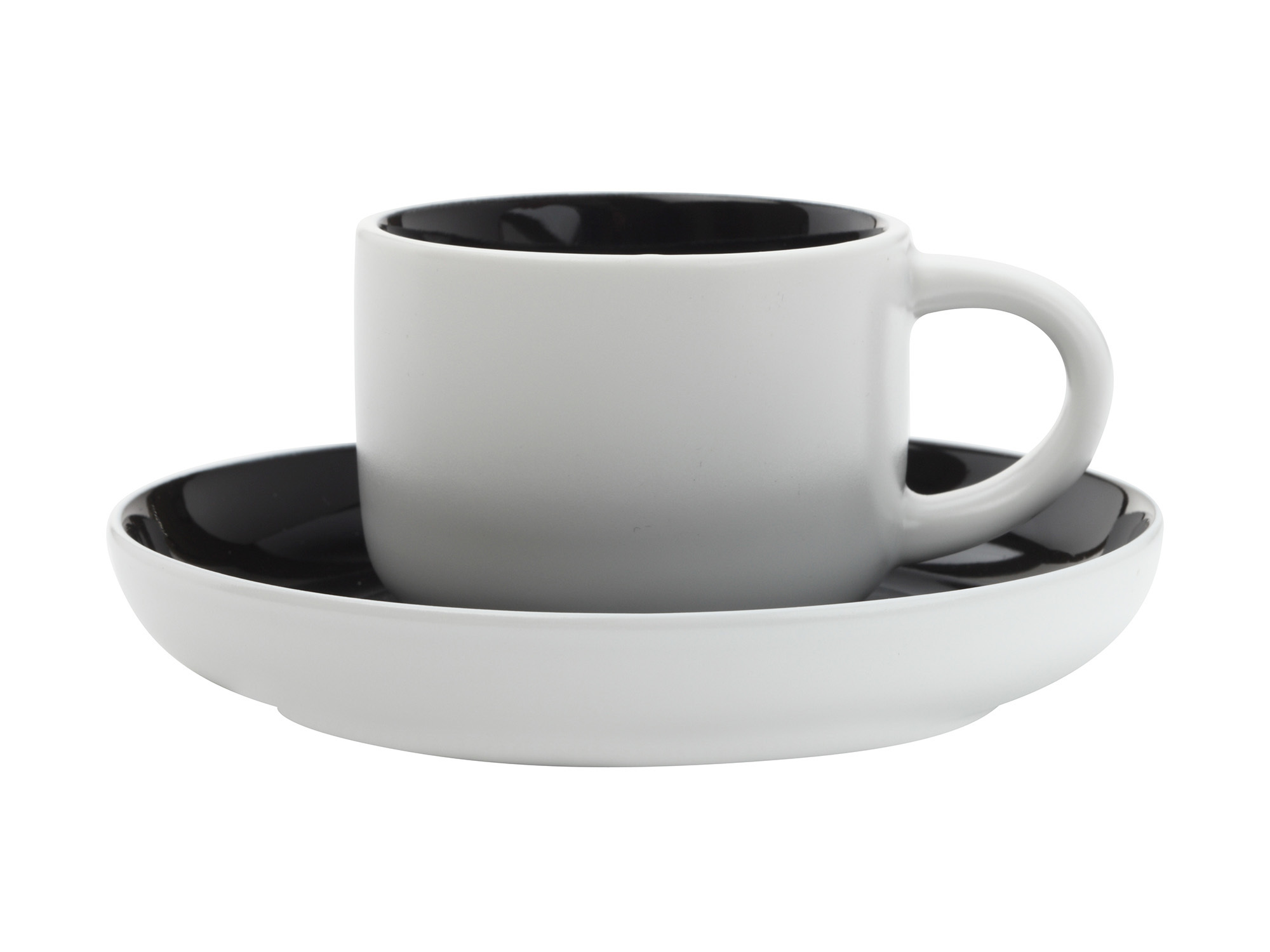 Maxwell & Williams Tint Demi 100Ml Cup And Saucer Black