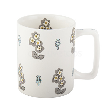 Katie Alice Pretty Retro Simple Floral Can Mug