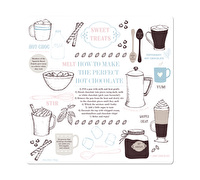 La Cafetiere Chocolate Square Work Surface Protector