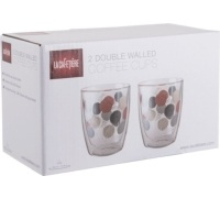 La Cafetiere Rituals 300ml Set Of 2 Double Walled Coffee Cups
