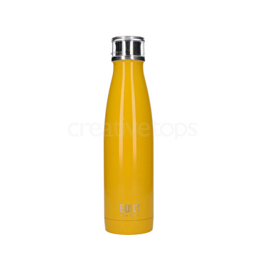 Built 17 Oz Double Wall Stainless Steel Water Bottle Yellow