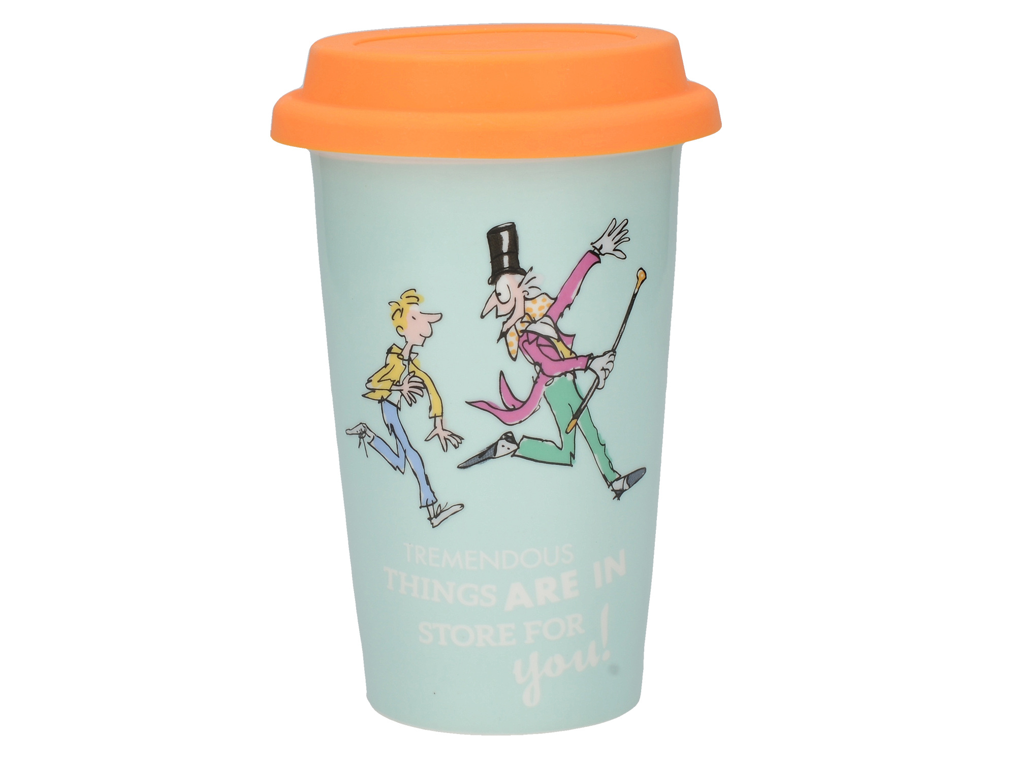 Roald Dahl Charlie And The Chocolate Factory Travel Mug With Embossed Lid