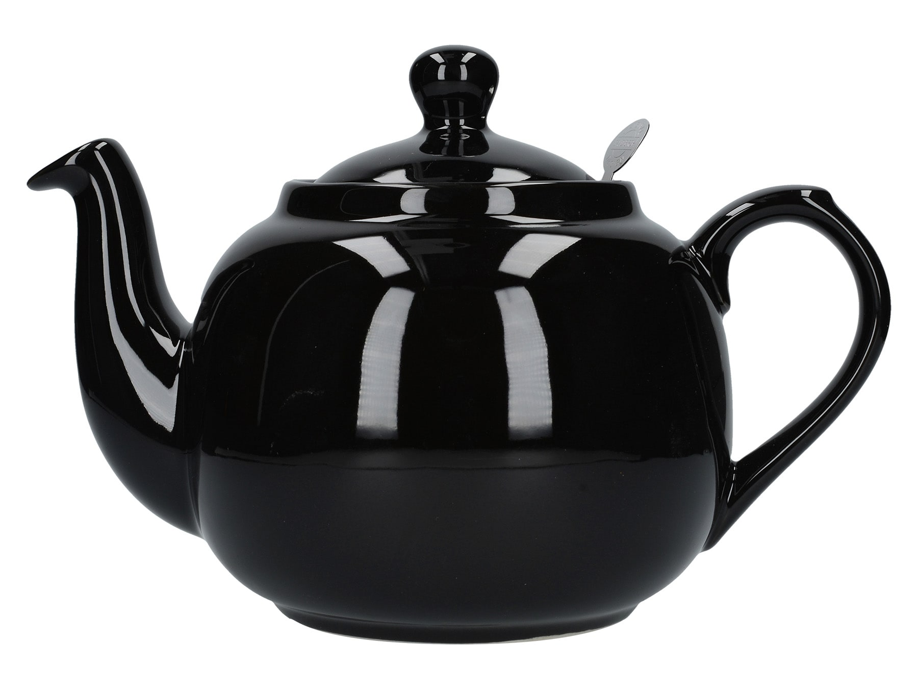 London Pottery Farmhouse 6 Cup Teapot Gloss Black