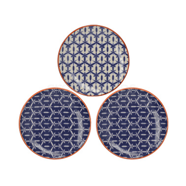 Creative Tops Drift Set Of 3 Canape Plates