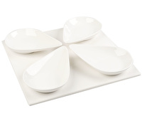 M By Mikasa Whiteware 4 Large Spoons And Platter