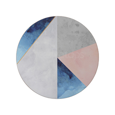 Creative Tops Geometric Palette Pack Of 4 Round Premium Placemats