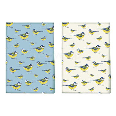 Creative Tops Into The Wild Blue Tit Pack Of 2 Tea Towels
