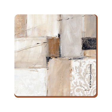 Creative Tops Natural Abstract Pack Of 4 Square Premium Coasters