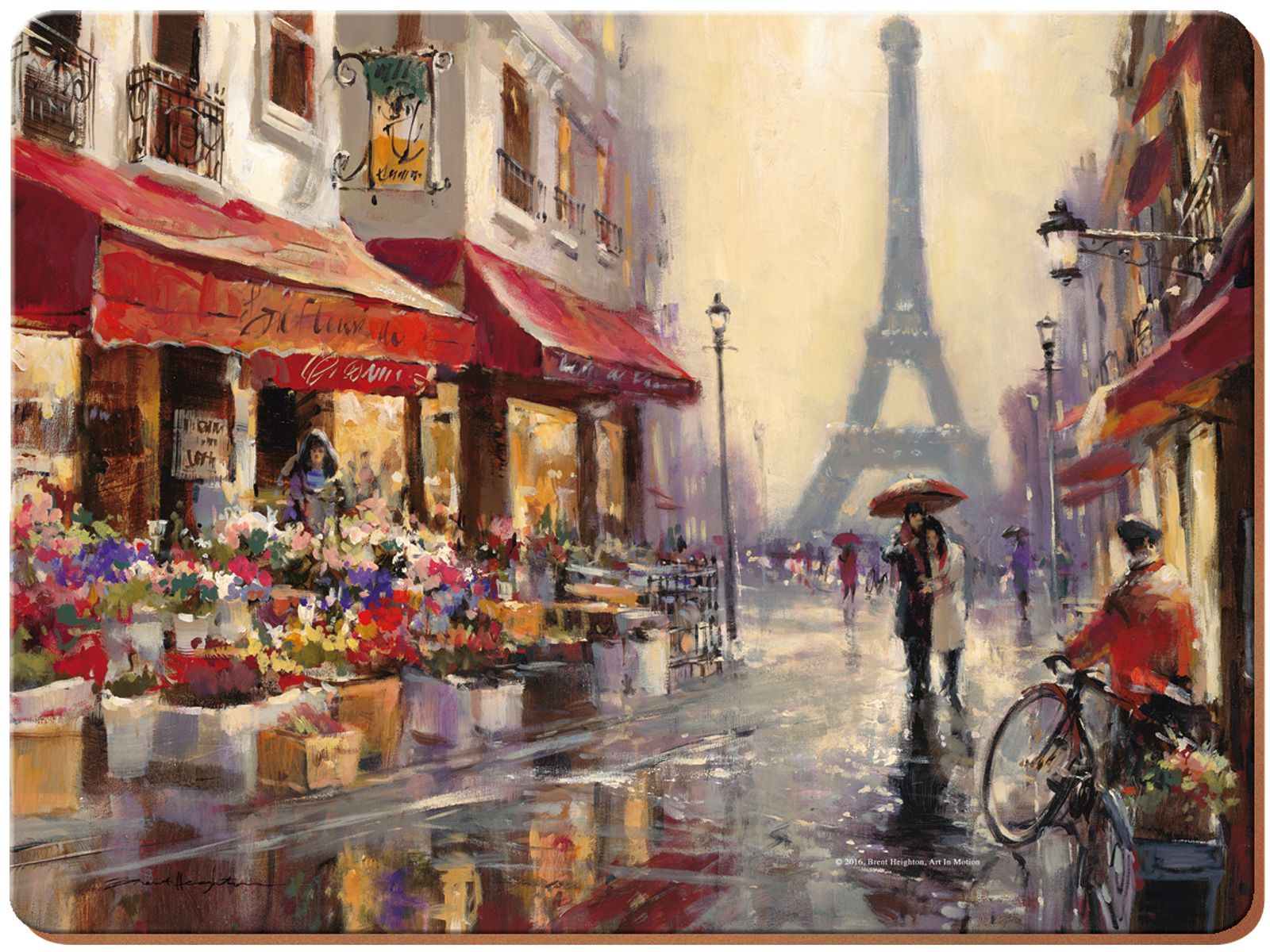 Creative Tops Paris Scene Pack Of 6 Premium Placemats