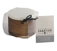 Sabatier Maison Wood Salt Pig With Marble Lid