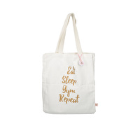 Creative Tops Ava & I Canvas Bag - Eat Sleep Gym Repeat