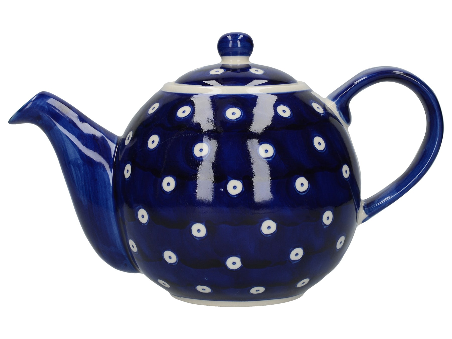 London Pottery Globe 4 Cup Teapot Blue And White Circle