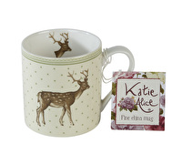 Katie Alice Highland Fling Can Mug Green Spot Stag