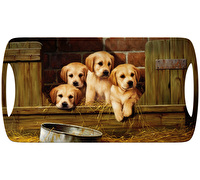 Creative Tops Labrador Puppies Small Luxury Handled Tray