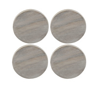 Creative Tops Naturals Pack Of 4 Whitewash Coasters With Holder