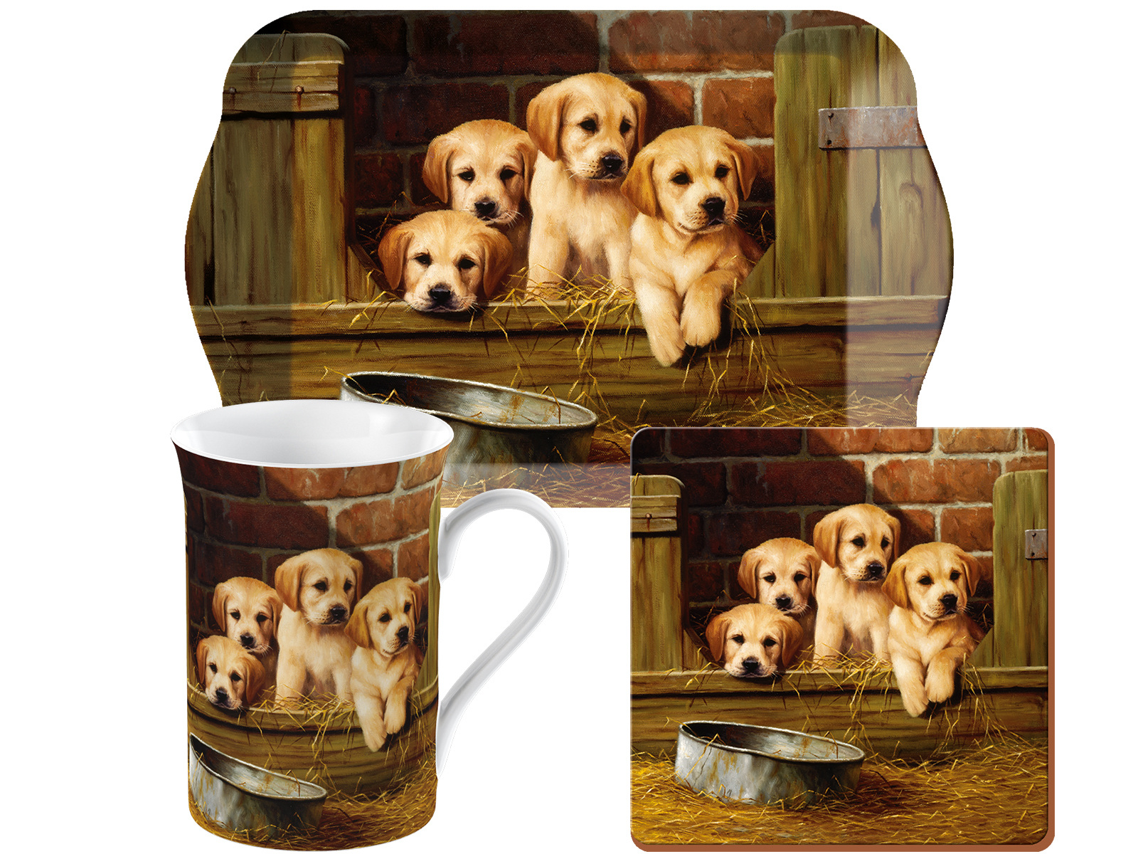 Creative Tops Labrador Puppies Time For Tea