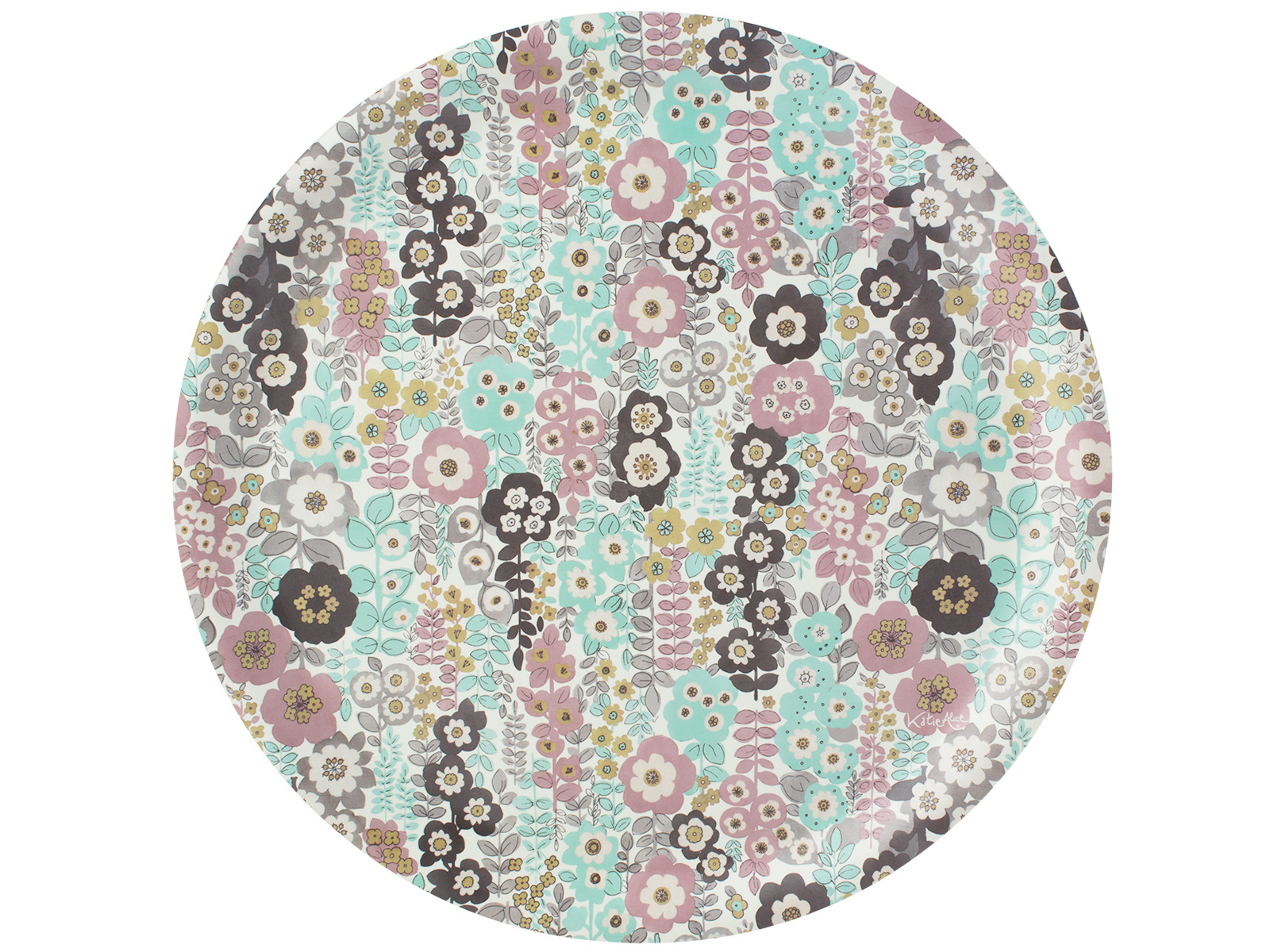 Katie Alice Pretty Retro Birchwood Round Tray