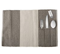 Creative Tops Cotton Ribbed Placemat With Cutlery Pouch