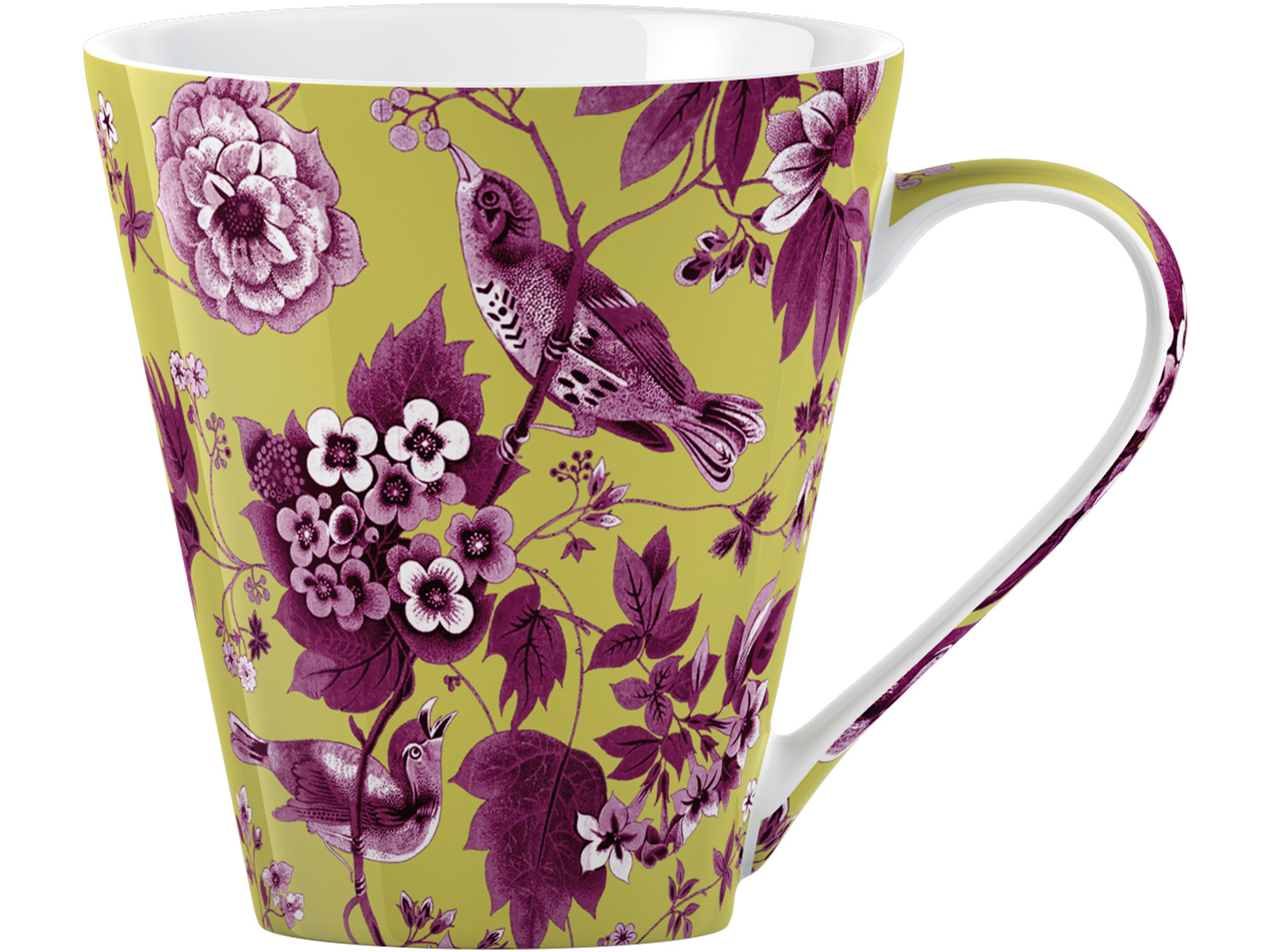 Victoria and Albert Garden Birds Conical Mug Light Green