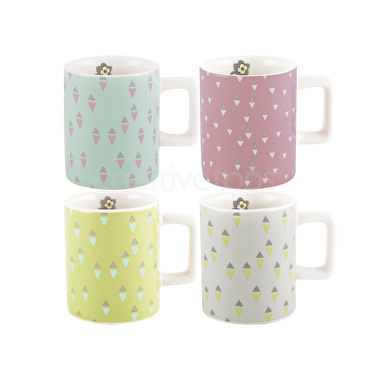 Katie Alice Pretty Retro Set Of 4 Espresso Cups