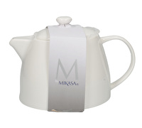 M By Mikasa Whiteware Ridged 6 Cup Teapot