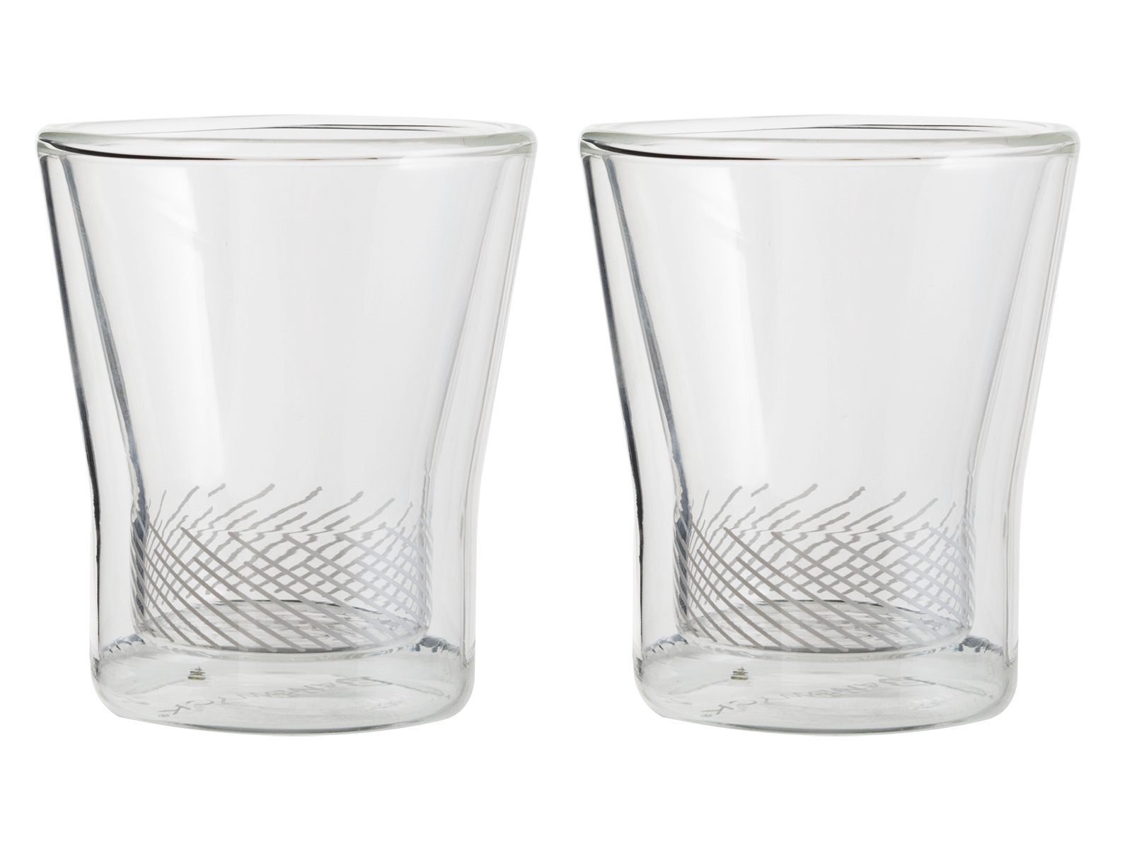 Randwyck Set Of 2 Double Walled 90ml Glass Cups