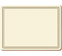 Creative Tops Classic Pack Of 4 Large Premium Placemats Cream