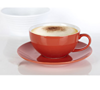 Randwyck Cappuccino 450ml Cup And Saucer Red