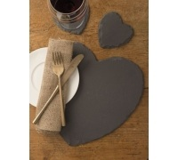 Creative Tops Pack Of 2 Heart Shaped Slate Placemats