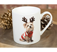 Everyday Home Christmas Dog Can Mug