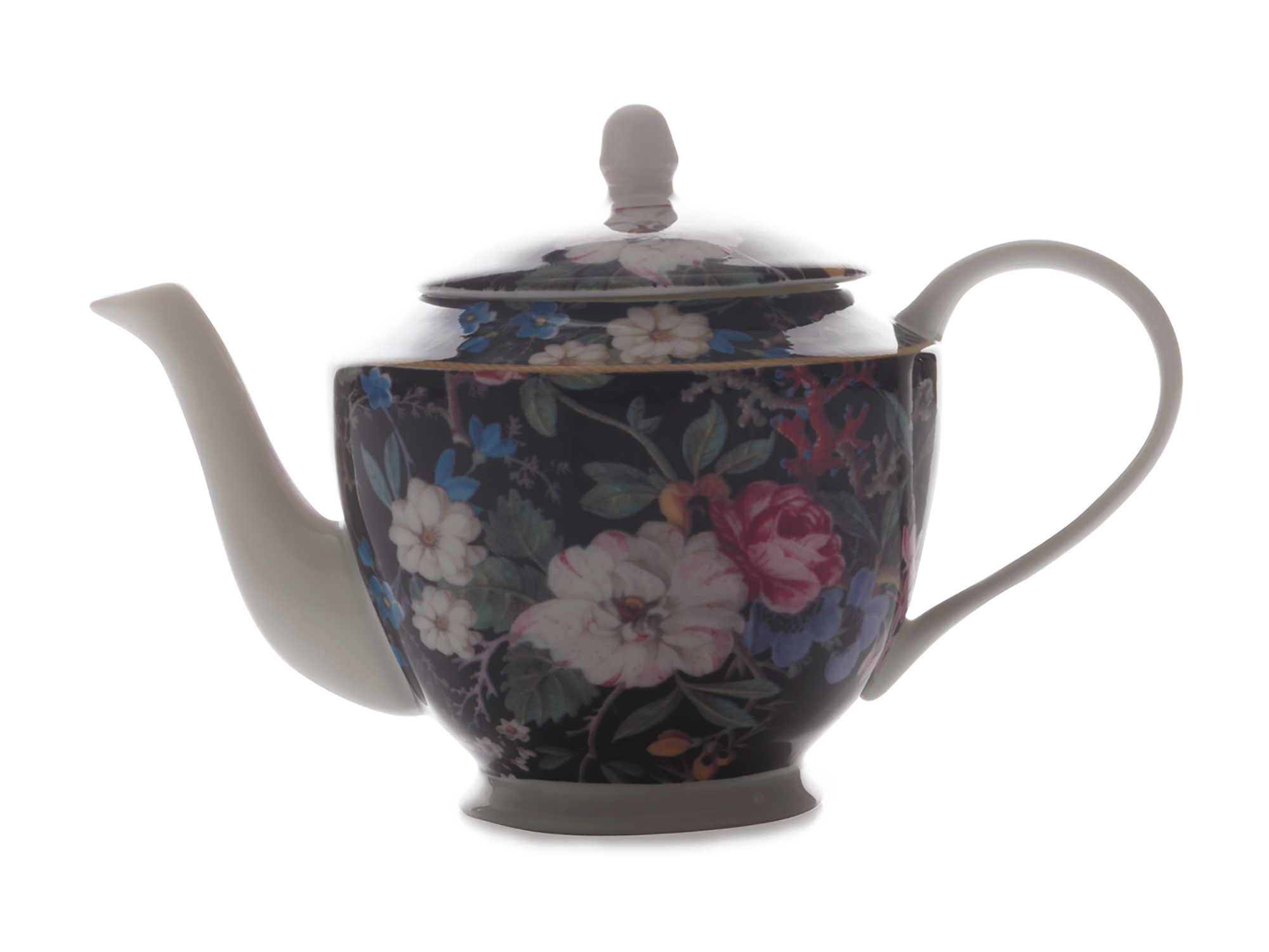 Maxwell & Williams William Kilburn Midnight Blossom 500Ml Teapot Gift Boxed