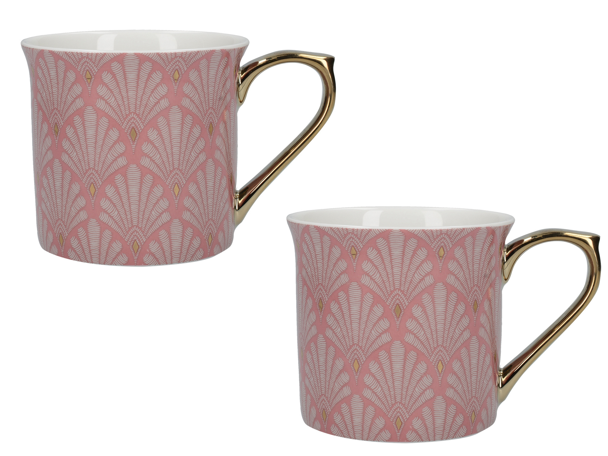 Victoria And Albert Scallop Shells Set Of 2 Palace Mugs Pink