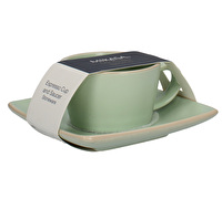 Mikasa Gourmet Basics Home Espresso Cup And Saucer Green