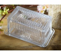 Katie Alice Cottage Flower Glass Butter Dish