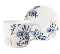 Victoria and Albert Palmers Silk Tea Cup And Sauc