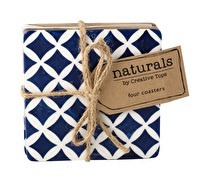 Creative Tops Naturals Pack Of 4 Blue Resin Coasters