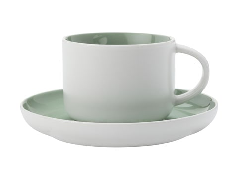 Maxwell & Williams Tint 250Ml Teacup And Saucer Mint