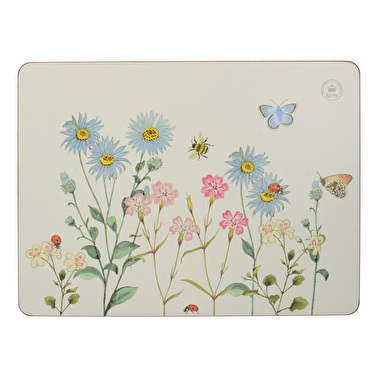 Kew Gardens Meadow Bugs Pack Of 6 Premium Placemats