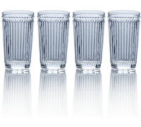 Mikasa Italian Countryside Set Of 4 High Ball 12Oz Glasses Clear