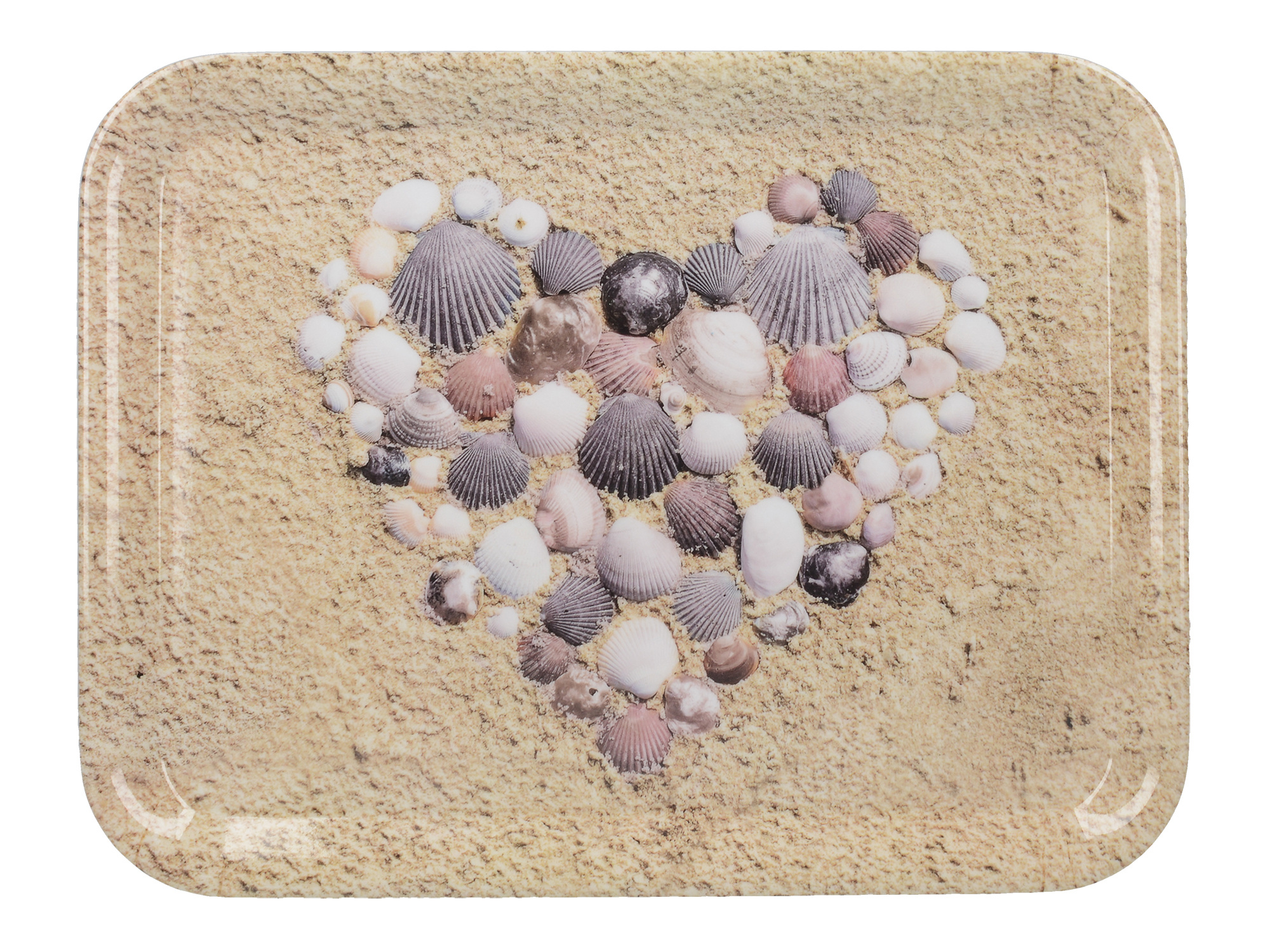 Everyday Home Shell Heart Small Tray