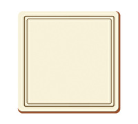 Creative Tops Classic Pack Of 6 Premium Coasters Cream