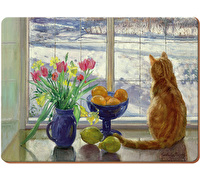 Creative Tops Snowy Cat Pack Of 4 Large Premium Placemats