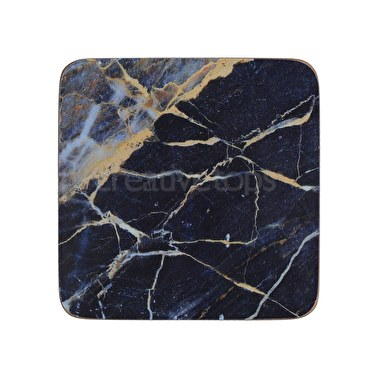 Creative Tops Navy Marble Pack Of 6 Premium Coasters