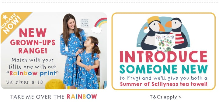 NEW Grown ups range! Match with your little one with our Rainbow Print!