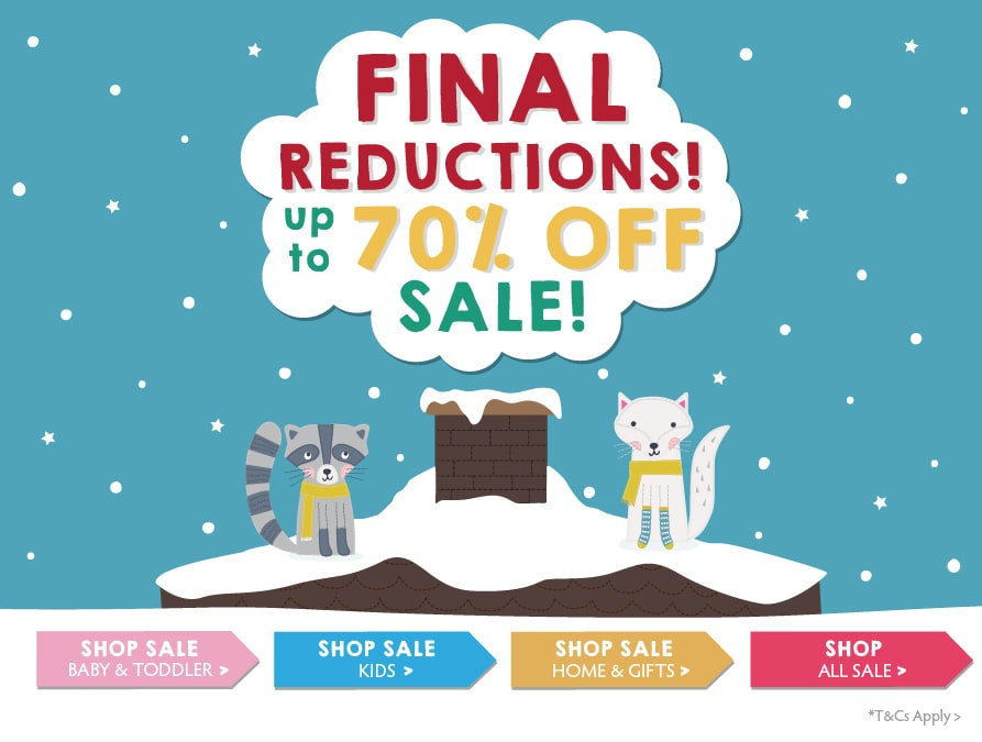 Final Reductions! Up to 70% off sale!