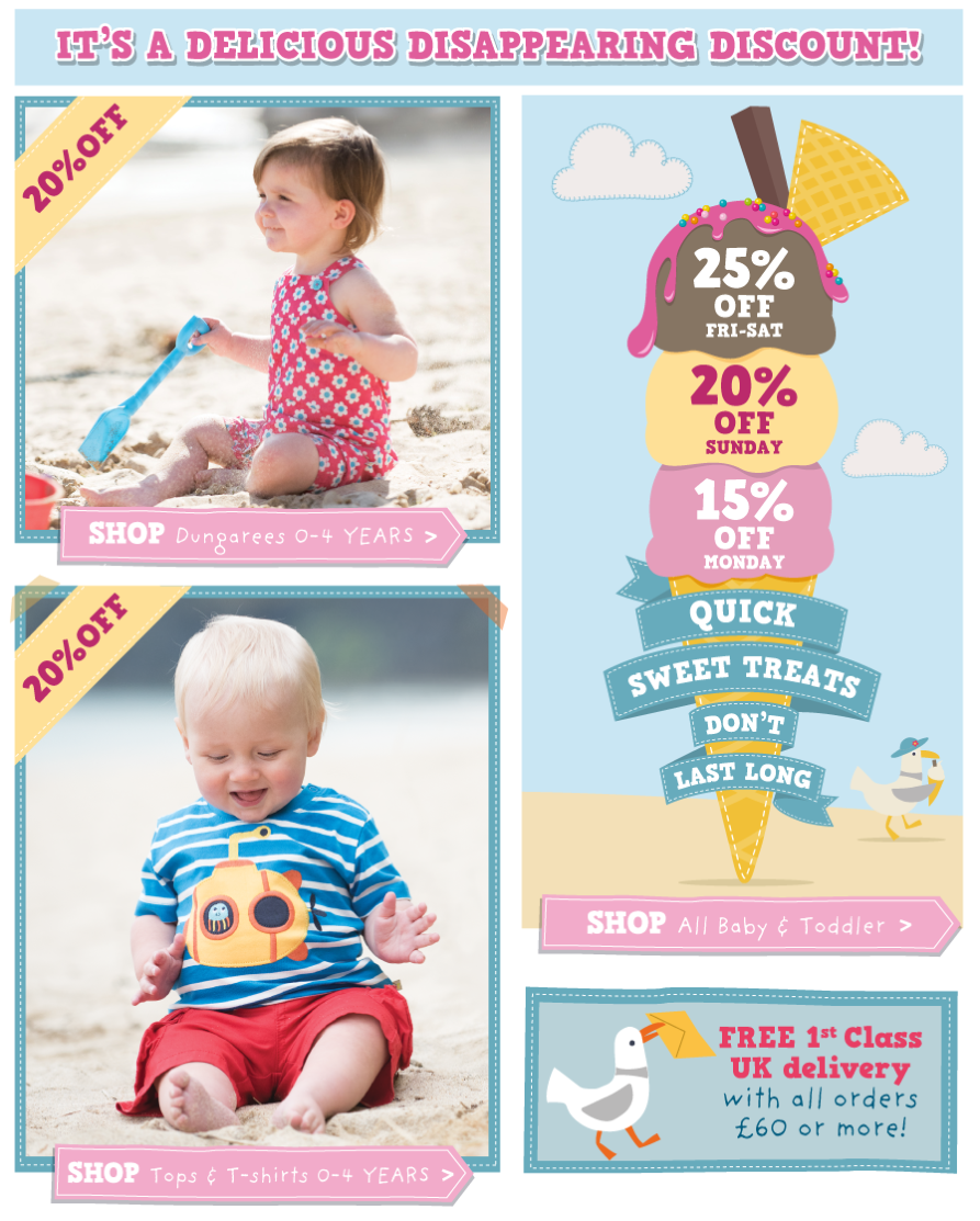 Disappearing Discount - Baby & Toddler