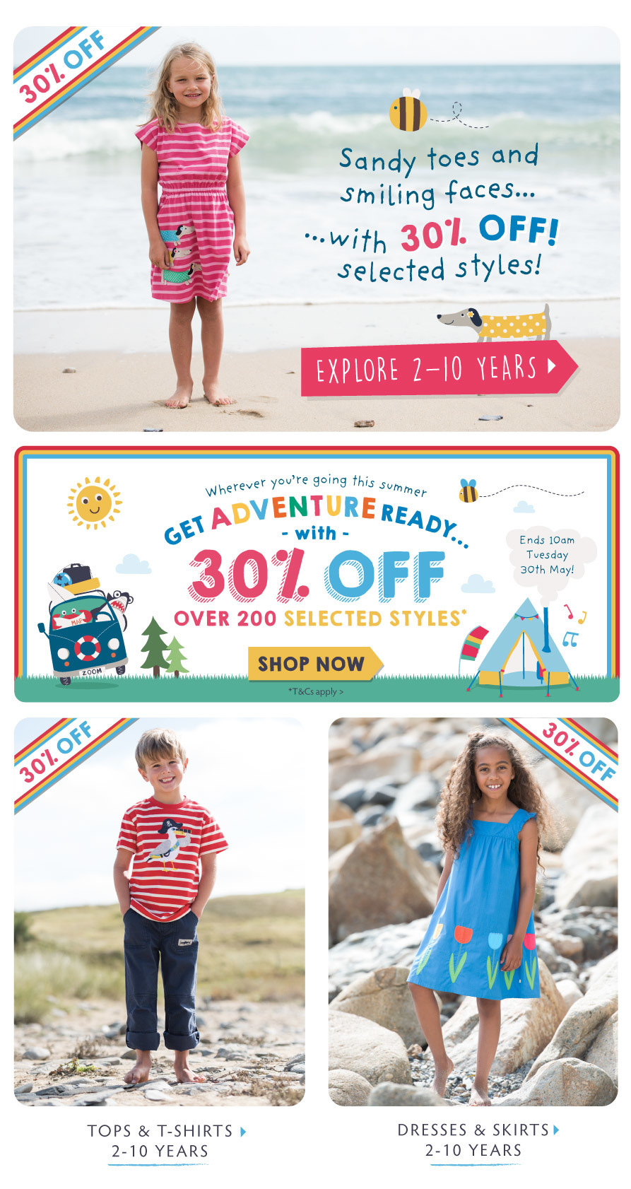 [B2C] 30% off Adventure Ready - kids