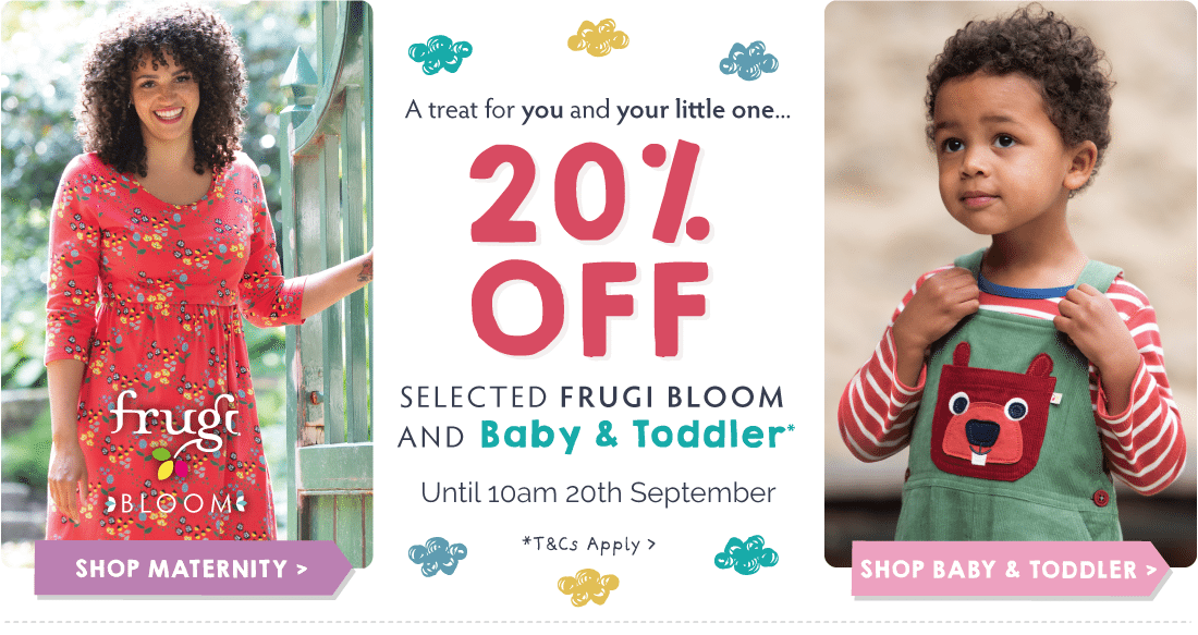 20% OFF Selected Frugi Bloom and Baby & Toddler